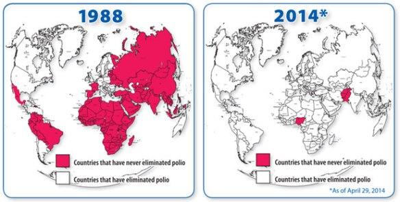 polio map 1988