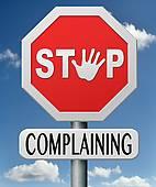 stop-complaining-stock-illustration_k12462053